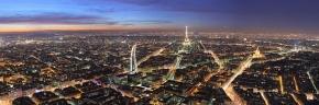 Vue de Paris au crépuscule