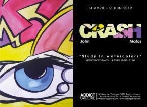 John Crash Matos - Study in Watercolors - Addict Galerie