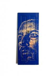 Alexandre Farto aka VHILS - Entropy - Carved on wood - 2012
