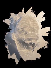 Alexandre Farto aka VHILS - Entropy - Sculpted polystyren - 2012