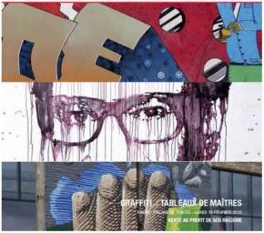 Graffiti - Tableaux de Maîtres - Palais de Tokyo et 13ème arrondissement de Paris