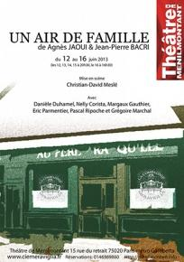 Un air de famille - De Agnes Jaoui et Jean-Pierre Bacri - Theatre de Menilmontant