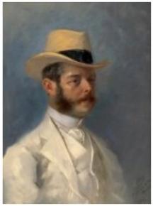 Jules Chéret, Portrait du baron Vitta