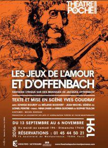 Les jeux de lamour et dOffenbach - Théâtre de Poche-Montparnasse