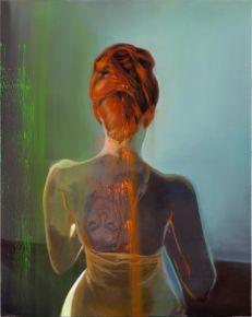 ART COLLECTOR Masmonteil 0livier  2015 sans titre huile sur toile92x72 cm col E DERET