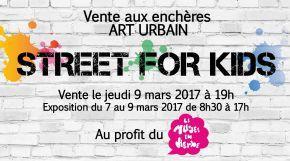 Vente aux enchères caritative Street for Kids - Art Urbain - ICART