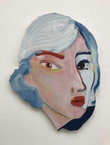BECKY KOLSRUD Double Portrait 2017 Oil on panel 55 x 43 cm Courtesy Becky Kolsrud JTT Gallery Galerie LEfebvre Fils