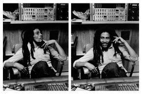 1-Bob Marley dans son studio Tuff Gong 1978Adrian Boot Urban Image