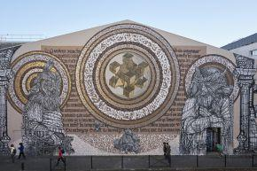Le message secret Fresque collaboration avec le calligraphe mexicain said dokins Bordeaux oct16