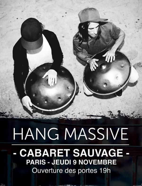 hag massive en concert au cabaret sauvage hang music artistik rezo paris