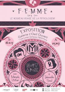 noty aroz la femme vernissage galerie oeil ouvert artistik rezo paris