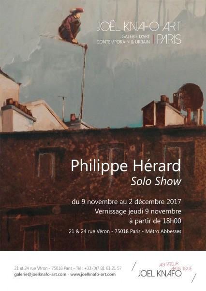 philippe herard solo show galerie joel knafo art street art collage artistik rezo paris