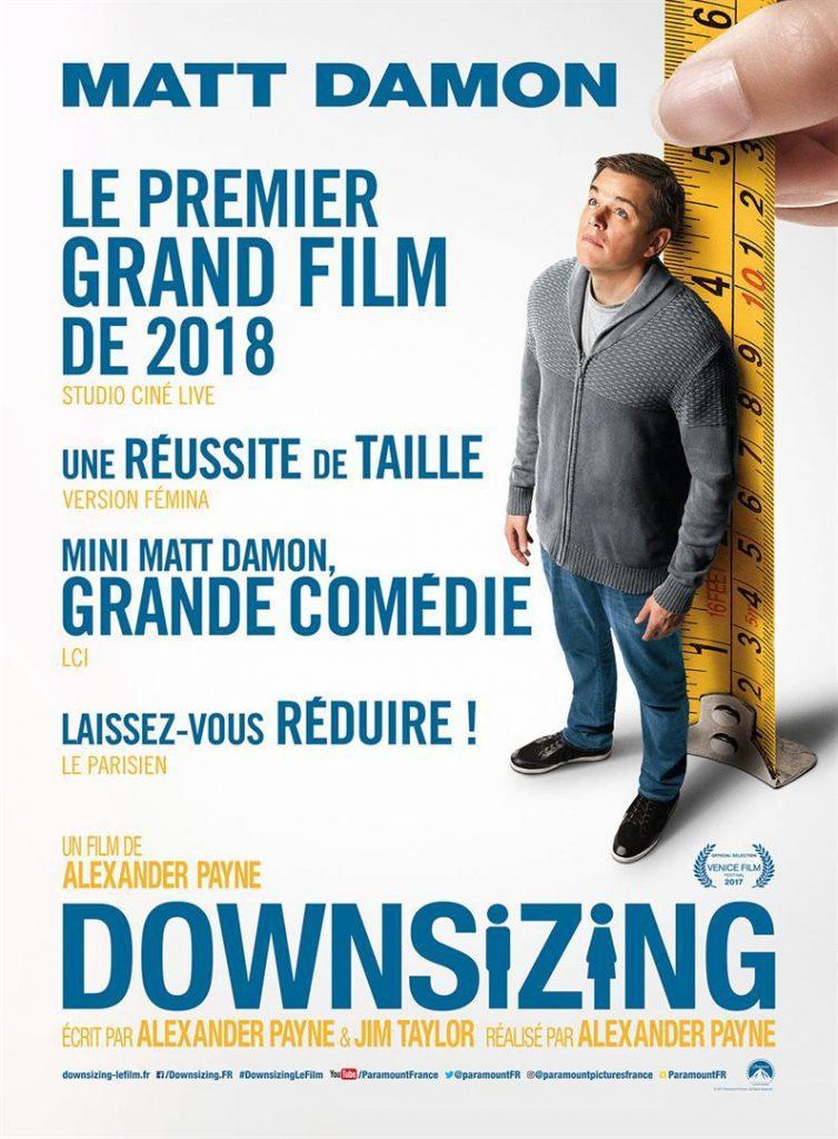 downsizing film cinema sorties cine janvier 2018 artistik rezo paris
