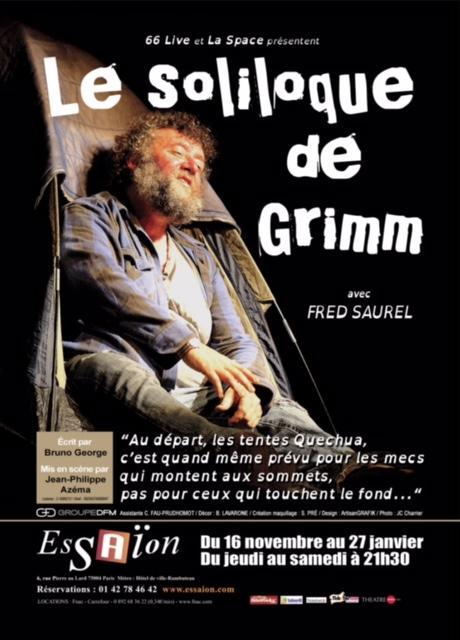 solliloque de grimm fred saurel theatre essaion artistik rezo paris