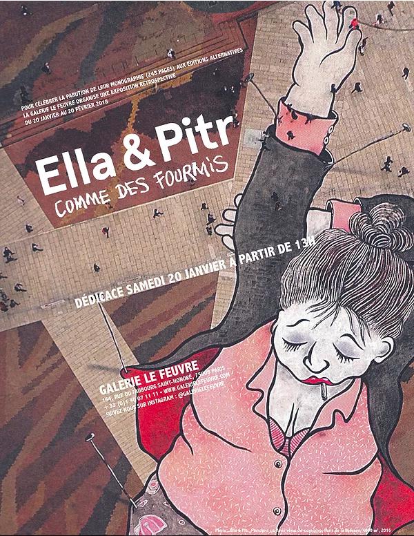 Ella et Pitr comme des fourmis exposition vernissage art galerie le feuvre artistikrezo paris