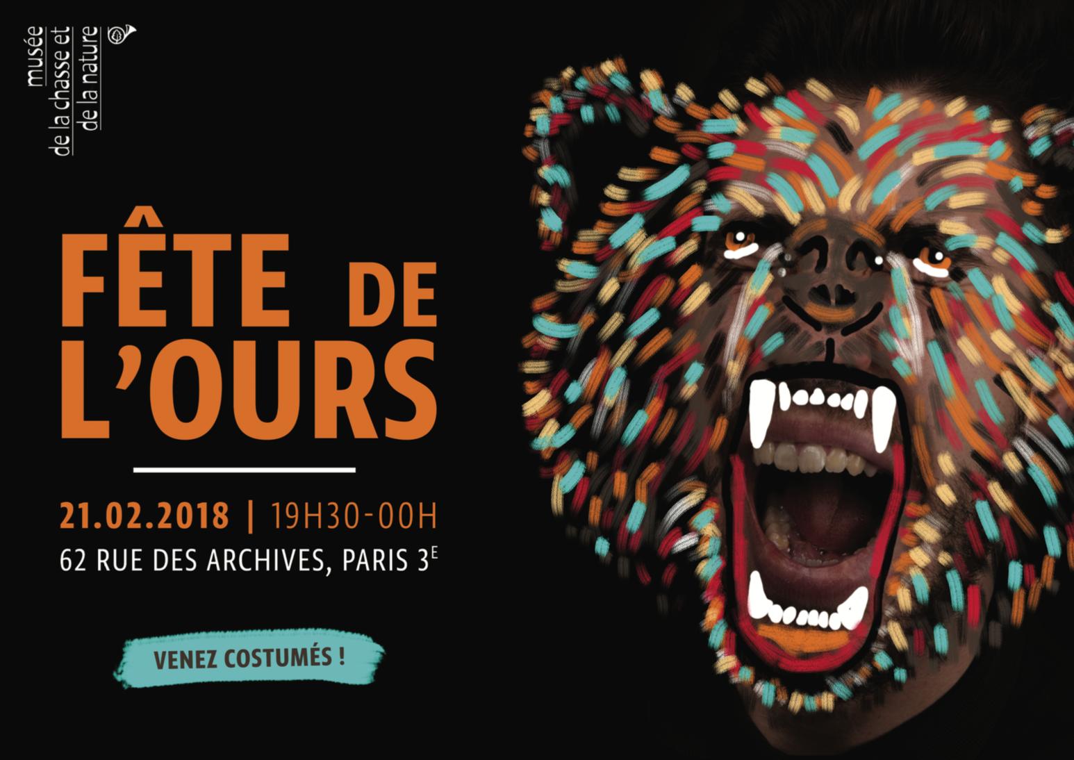 Fête de l'ours musée de la chasse et de la nature evenement artistikrezo paris
