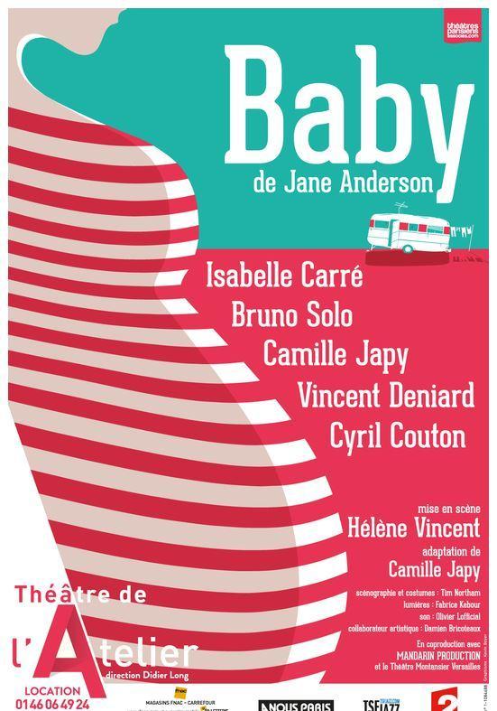 baby theatre de l'atelier comedie isabelle carré artistik rezo paris