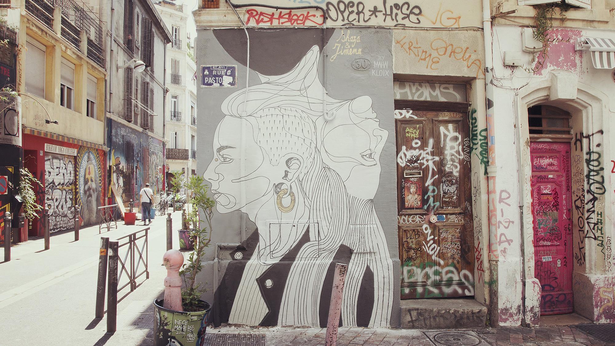 mahn kloix mur oberkampf stret art art urbain urban art artistik rezo paris