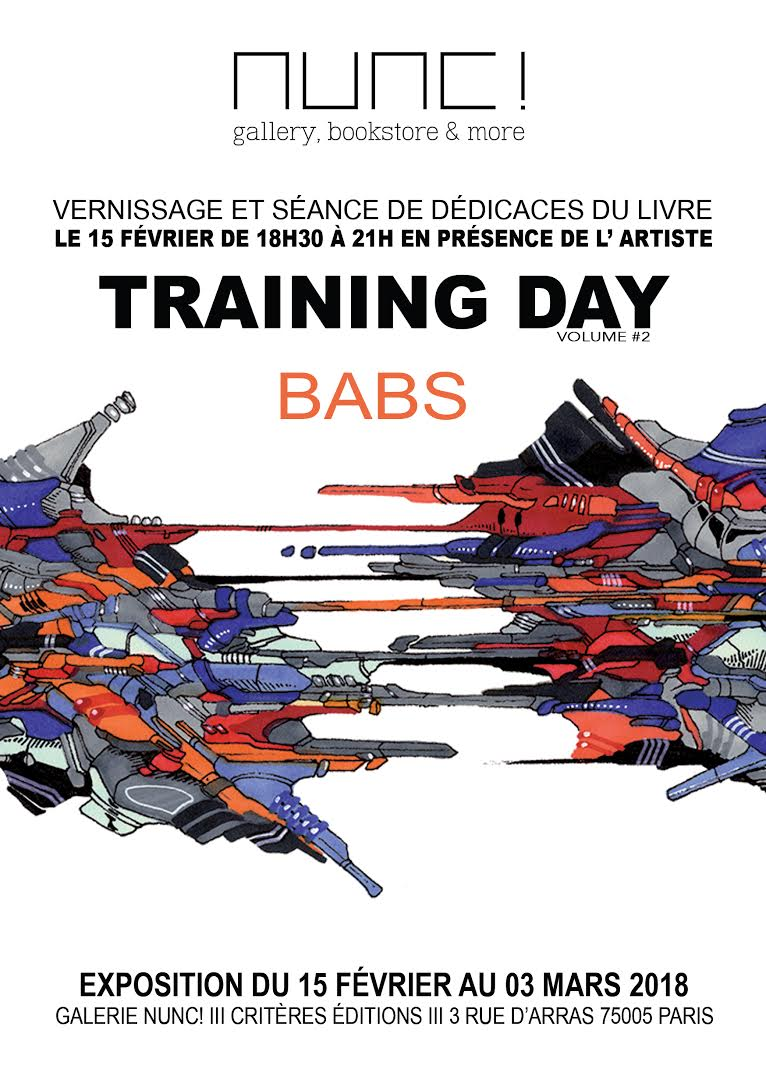 exposition training day babs galerie nunc! artistikrezo paris