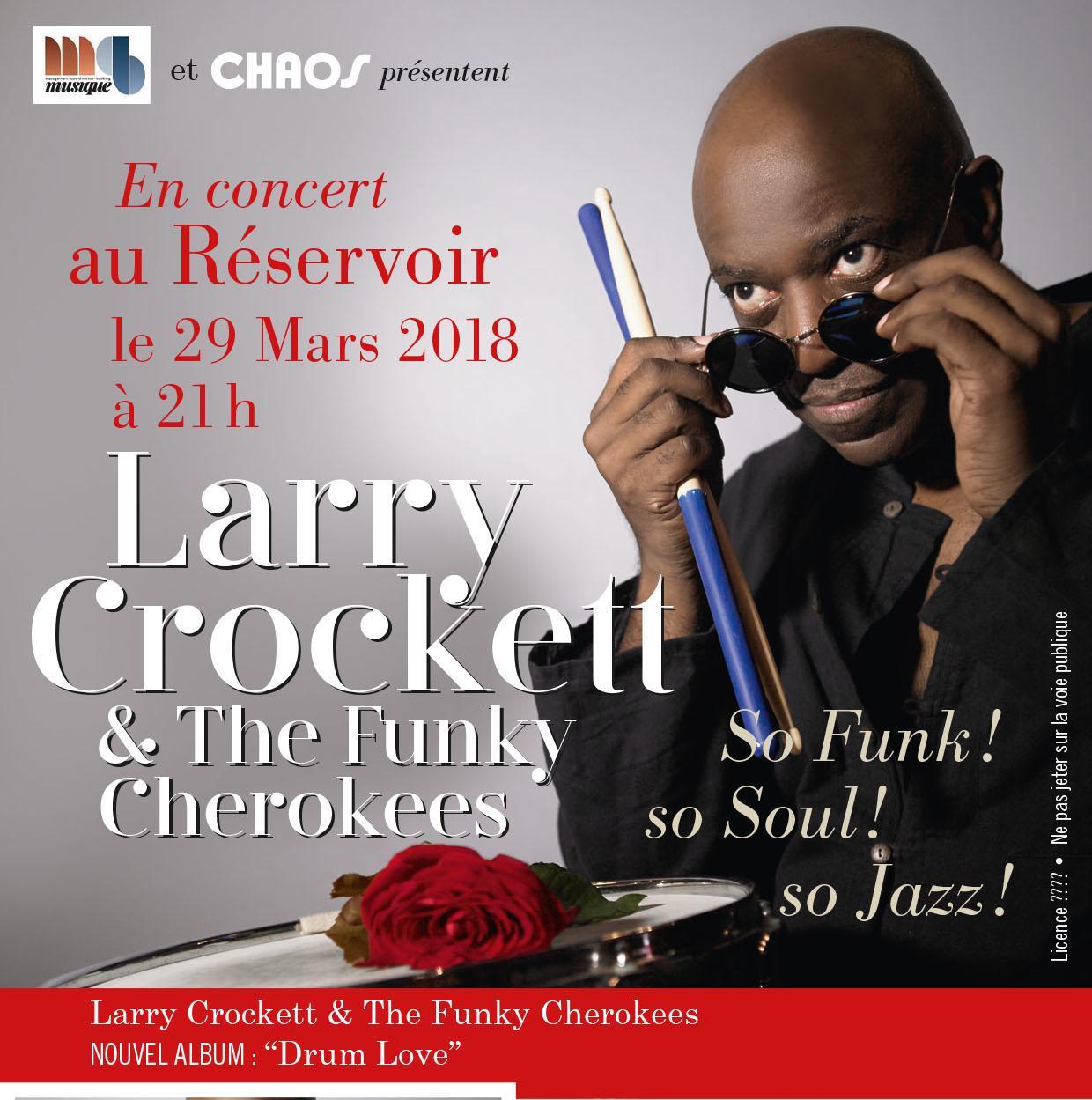 larry crockett funky cherokees concert réservoir musique évènement artistikrezo paris