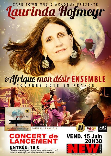 Laurinda hofmeyr afrique mon désir ensemble new morning musique concert artistikrezo paris