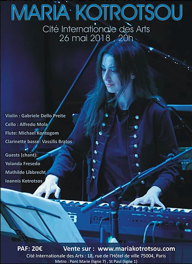 Maria Kotrotsou cité internationale des arts concert musique piano artistikrezo paris