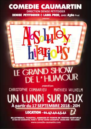 absolutely hilarious comedie caumartin le grand show de l'humour artistik rezo paris 2018