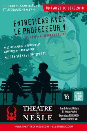 entretiens avec le professeur Y theatre de nesle paris 2018 Artistik Rezo