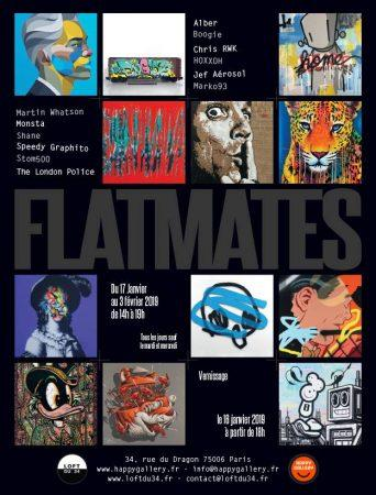 flatmates group show galerie loft du 34 x happy gallery artistikrezo. Black Bedroom Furniture Sets. Home Design Ideas