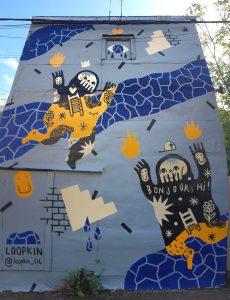 Murale réalisée dans le cadre du festival Canettes de ruelle
