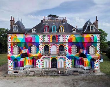Château de La Valette en 2018, peint par Okuda