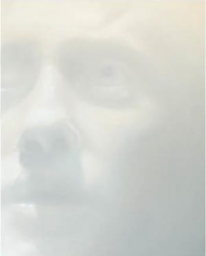 """Alberto Ruce, """"Empatia"""", peinture aérosol, acrylique sur bois, 100 x 80 cm"""
