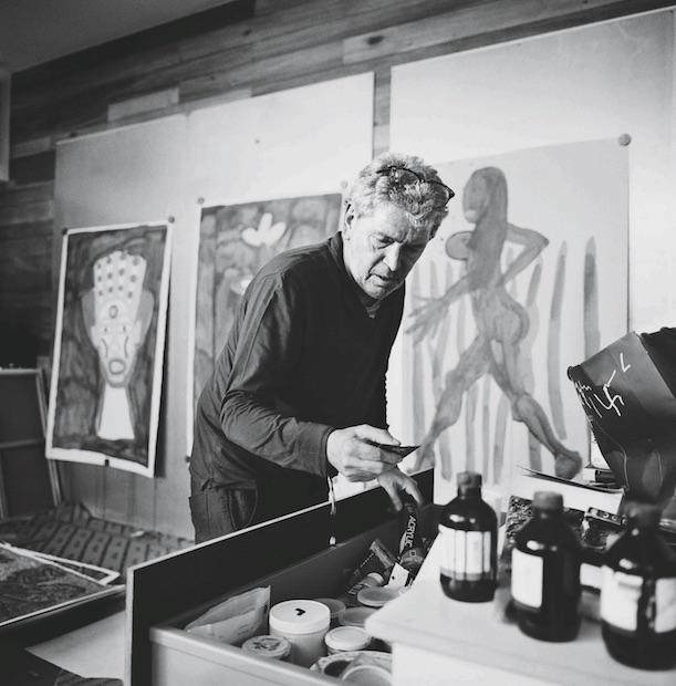 Robert-Combas-atelier © Philippe Bonan
