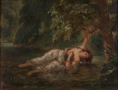 La mort d'Ophélie Eugène Delacroix