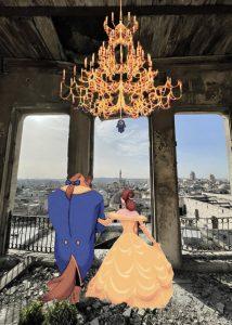 La belle et la bete de Disney avec la ville d'Alep Stephany Sanossian